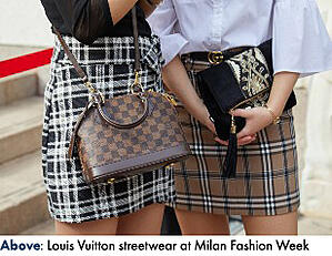 Luis Vuitton streetwear at Milan Fashion Week