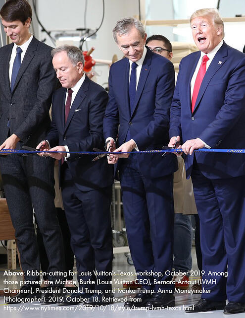 Ribbon-cutting for Louis Vuitton's Texas workshop, October 2019
